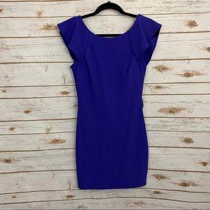Trixxi Royal Blue Low Back Bodycon Dress NWT